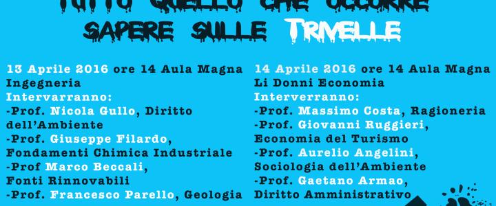 Seminario VERSO IL REFERENDUM: TUTTO QUELLO CHE C'E' DA SAPERE SULLE TRIVELLE