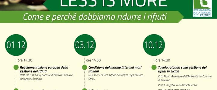 """Conclusioni """"Less is More, Come e perché dobbiamo ridurre i rifiuti""""-Richiesta introduzione raccolta differenziata all'Università"""